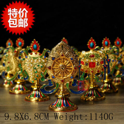 Tibet Tibetan Buddhist Mikky Eight Auspicious Symbols Family Hall