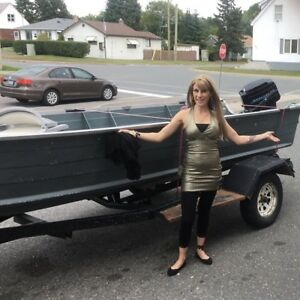 Selling a 16ft boat motor trailer package