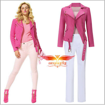 Regina George Costumes (Movie Mean Girl Regina George Outfit Cosplay Costume Rose Red Jacket)