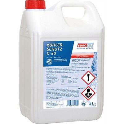 EUROLUB Kühlerschutz D-30 5 Liter Kühler Frostschutz Konzentrat G12+ Rot Lila