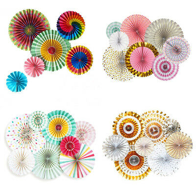 Pinwheel Rainbow Paper Fans Wedding Birthday Party Home Decoration Baby - Paper Pinwheel