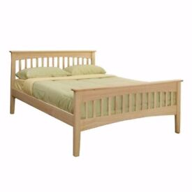 Double Wooden Frame Bed