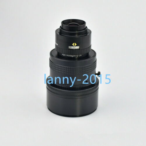 1pc Used Linos Apo-rodagon D 2x 75mm / 4.5 Line Scan Lens With M72 Focusing Tube