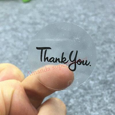 Transparent Round Thank You Stickers   Clear Craft Labels Gift Seals