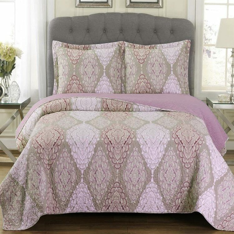 Unique Quilted Jewel Patchwork Print Oversized Reversible Wr