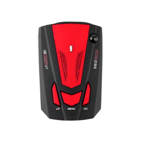 360° Car 16 Band V7 Gps Speed Police Safe Radar Detector Voice Alert Laser Usa