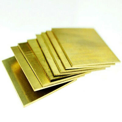 H62 Brass Copper Flat Stock Sheets Thick 0.5-3mm 50*100 100*100 100*200mm AU - Copper Sheet Stock