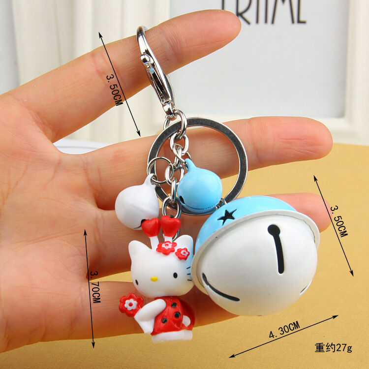 Hello Kitty - NEW Hello kitty Key chain The bell key chain Toy Gift 8