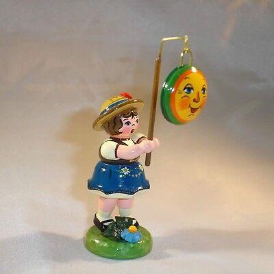 Hubrig Volkskunst Lampionkind Mädchen mit Mond, Erzgebirge, 307h0009