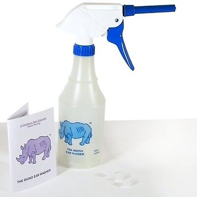Rhino Ear Wash Washer Bottle w/Tips For Ear Wax Cleaning & Lavage Doctor Easy RW