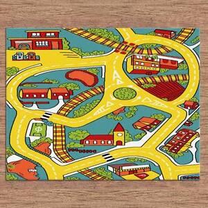 KIDS CARPET-FLOOR RUG-PICTURE DESIGN-ROADS-120CM X 170CM-7540 Bass Hill Bankstown Area Preview