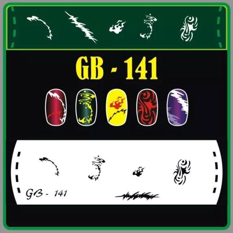 Nail Art Airbrush Stencils (GB 141-150)