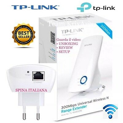 TP-LINK TL-WA850RE Range Extender Universale N300 Ripetitore Wifi SPINA ITALIA
