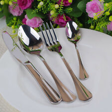 32 PIECE STYLISH KITCHEN STAINLESS STEEL CUTLERY SET TABLEWARE DINING UTENSILS