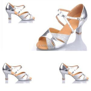 Hot Gorgeous Womens Ladies Girls Latin Ballroom Salsa Tango Glitter Dance Shoes