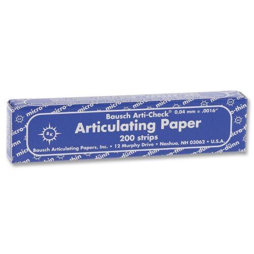 "Bausch BK-09 Arti-Check Articulating Paper Strips Micro-Thin Blue .0016"" 200/pk"