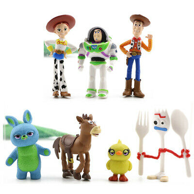 Toy Story Woody Buzz Lightyear Jessie Bulleye 7 PCS Mini Figures Set Cake Topper - Woody Toy Story Jessie