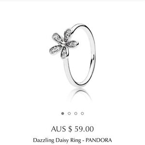Pandora Daisy Flower Ring Pearsall Wanneroo Area Preview