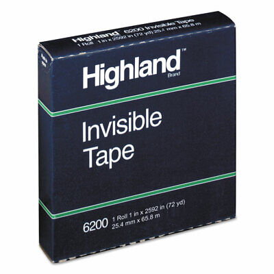 Highland Invisible Permanent Mending Tape 1 X 2592 3 Core 620025921