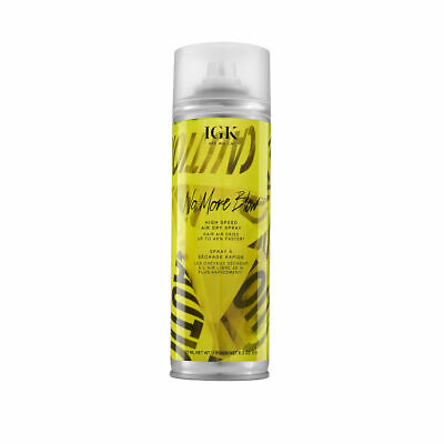 IGK - No More Blow - High Speed Air Dry Spray For Hair - 293ml - BRAND NEW