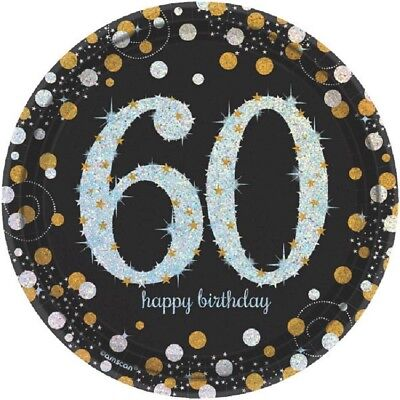 60th Birthday Party Plates (60th Dessert Plates 7