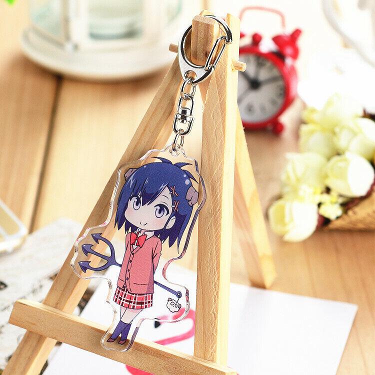 Vtuber Cute Nekomiya Hinata Key Chain Key Buckle Anime Keychain Standing Figure