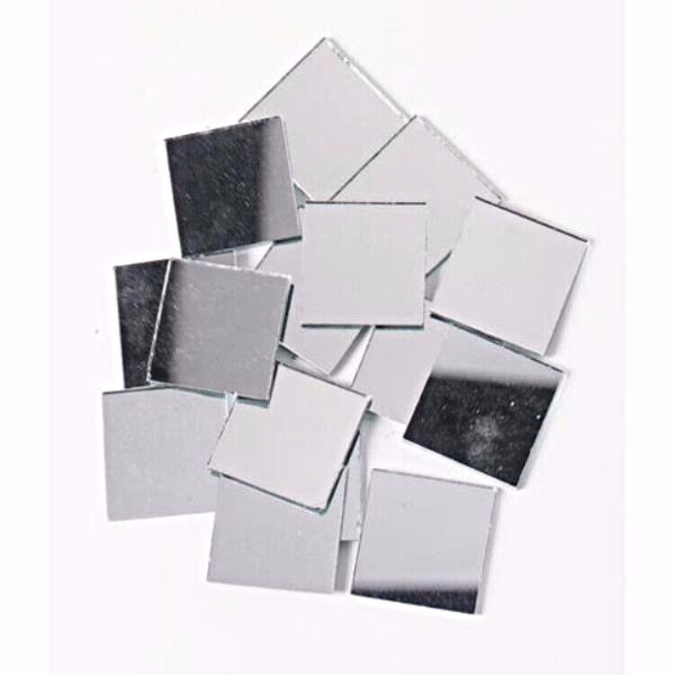Unfinished Miniature Square Mirrors for Wedding Crafts, Table Scatter - 25 Pack