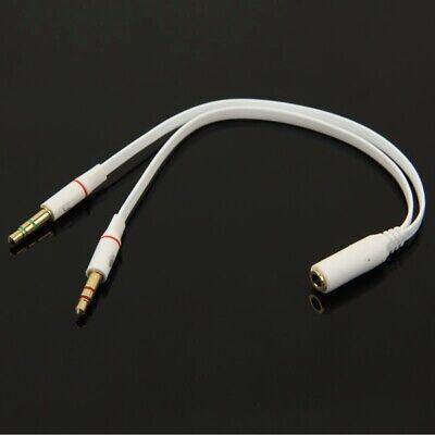 Audio Divisor Cable Y Adaptador Auriculares 3,5mm Clavija Estéreo Portátil Z60