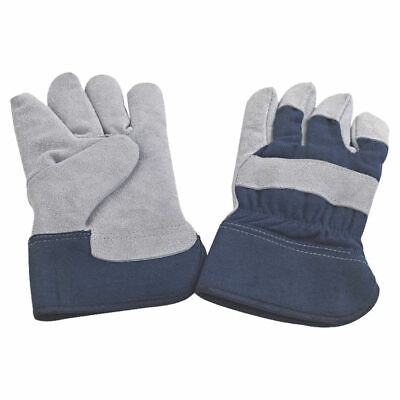 Diamondback Jf 6317 Gloves Mens Work - Insulated Leather Palm Blue
