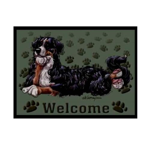 Bernese Mountain Dog Paws Cartoon Artist Welcome Doormat Floor Door Mat Rug