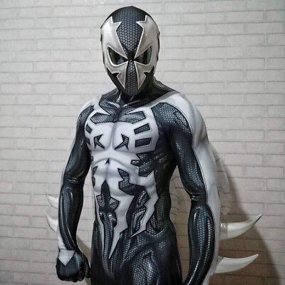 2099 Ultimate Spider-Man Costume Spiderman Muscle Zentai Suit Cosplay Halloween](Black Suit Spiderman Costume)