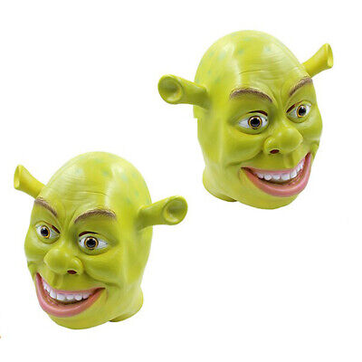 Shrek Mask Halloween (Halloween Party Green Shrek Latex Masks Funny Adult Movie Cosplay Animal)