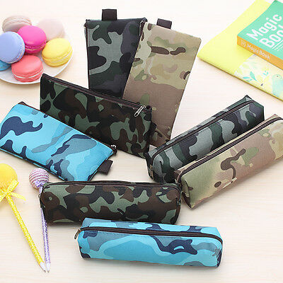 Personalized Camouflage Pencil Case Pen Stationery Pouch Cosmetic Makeup Bag CA