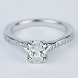 0.50 Carat GIA Certified Oval Diamond Engagement Ring