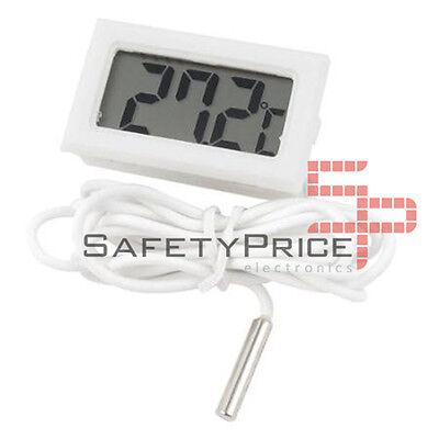 Termometro digital sonda 1m externa temperatura lcd acuario congelador Blanco SP