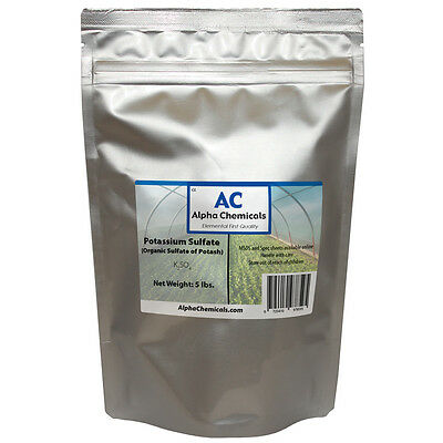 5 Pounds   Sulfate Of Potash   Potassium Sulfate   Organic
