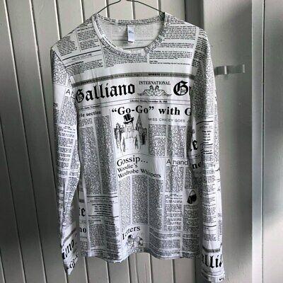 John Galliano Newspaper Script Longsleeve t-shirt