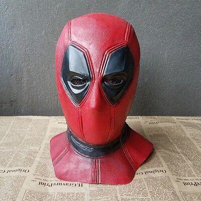 Cosplay X (X-Men Deadpool Mask Halloween Hood Cosplay Full Face Latex Mask Cosplay Props)