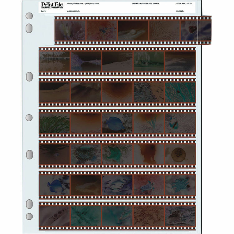Print File 35-7B Archival Storage for 35mm Negatives Pack of 100