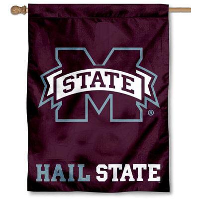 Mississippi State Bulldogs Hail State House Banner Flag ()