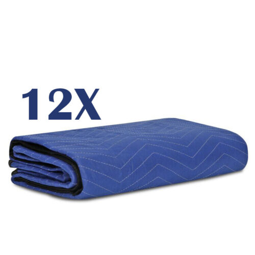 12 Moving Blankets Mats Deluxe Pro (35lb/dz) Quilted Shipping Furniture Pads Business & Industrial