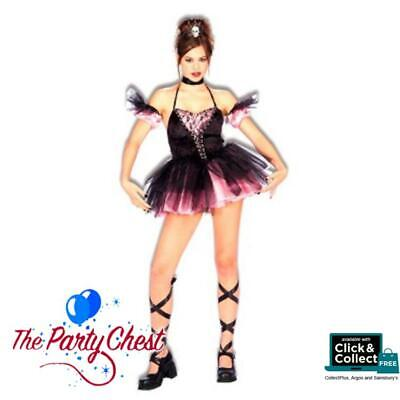 SEXY DARK BALLERINA HALLOWEEN COSTUME Complete Gothic Fancy Dress Outfit - Sexy Ballerina Kostüm