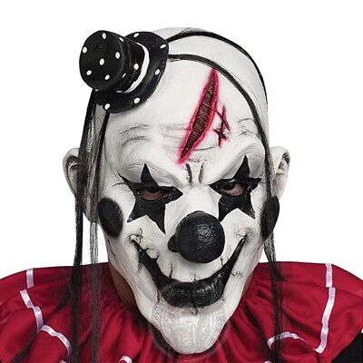 Creepy Evil Scary Halloween Clown Mask with Hairs Latex Joker Mask Party - Scary Halloween Parties