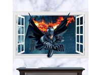 3D Wall Sticker BATMAN, BRAND NEW, 90x60cm