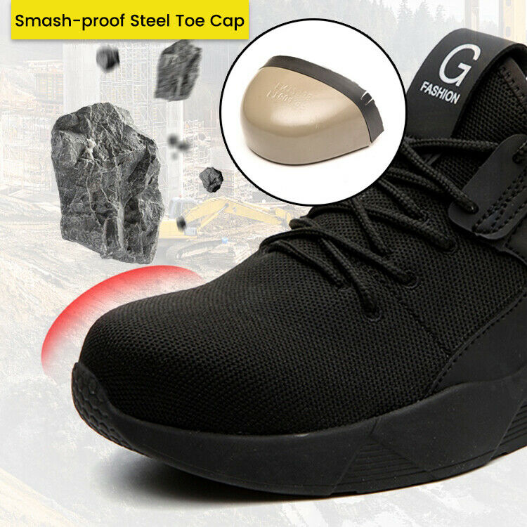 Men/'s Steel Toe Safety Shoes Trainers Work Boots Sports Hiking Shoes Sneakers SZ