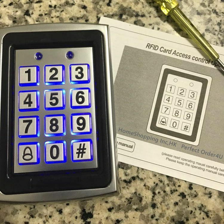 Metal 125KHz RFID Card + Password Door Access Control Keypad with Backlight USA