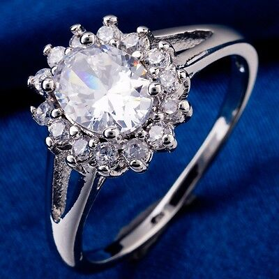 White Gold Ladies Bridal Rings - High Quality Ladies Ring White Gold Filled Oval Cubic Zircon For Wedding