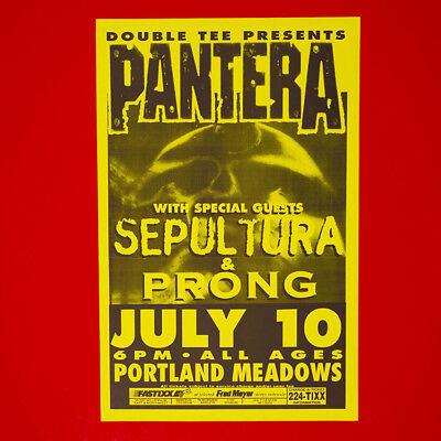 PANTERA + Sepultura + PRONG 1994 Original 11x17 Promo Poster. Portland Oregon.