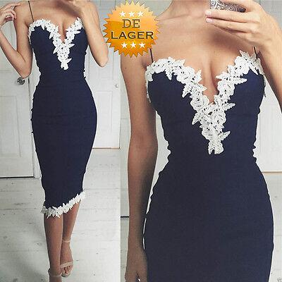 Damen Spitzenkleid Cocktail Etuikleid Abendkleid Partykleid Pencil Kleid SommerT online kaufen