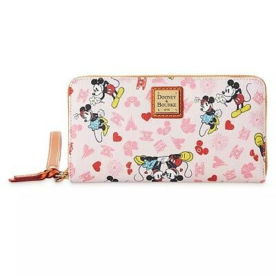 Mickey and Minnie Mouse Love Dooney & Bourke Wristlet Wallet Valentines